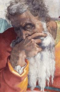 michelangelo prophet Jeremiah
